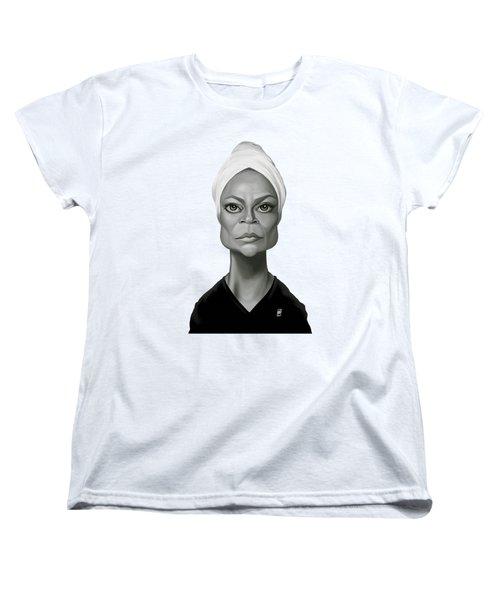 Celebrity Sunday - Eartha Kitt Women's T-Shirt (Standard Cut) by Rob Snow
