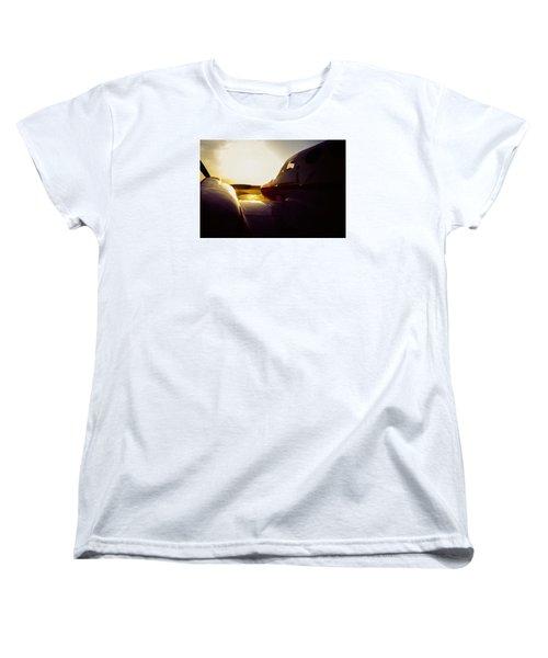Cessna 421c Golden Eagle IIi Silhouette Women's T-Shirt (Standard Cut) by Greg Reed