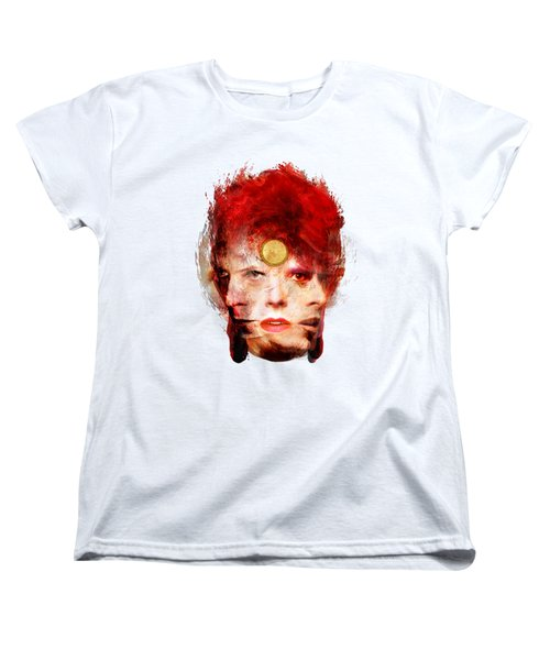 Ch Ch Changes David Bowie Portrait Women's T-Shirt (Standard Cut) by Big Fat Arts