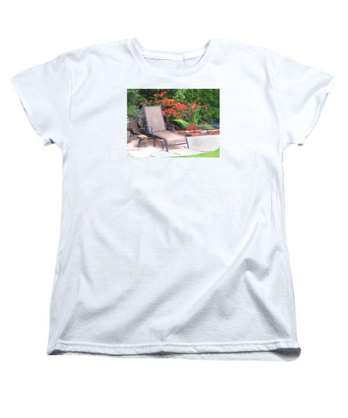 Chair Waiting Women's T-Shirt (Standard Cut) by Susan Crossman Buscho