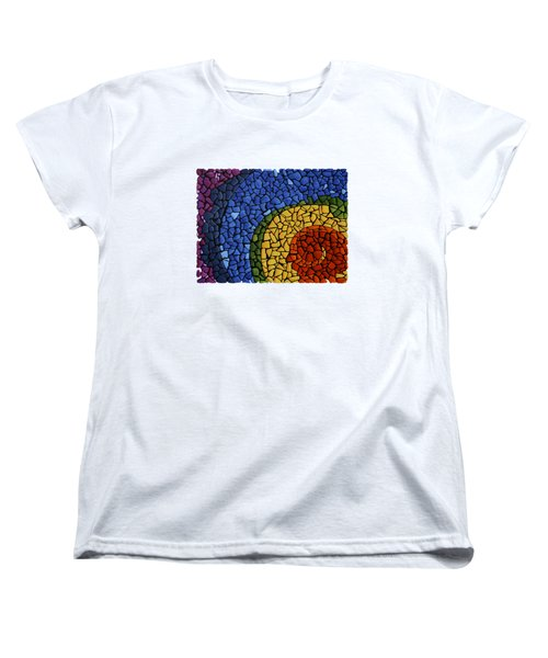 Women's T-Shirt (Standard Cut) featuring the painting Chakra Swirl by Deborha Kerr
