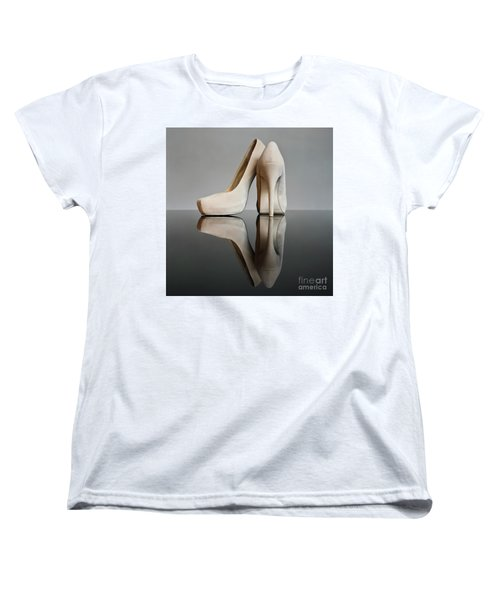 Women's T-Shirt (Standard Cut) featuring the photograph Champagne Stiletto Shoes by Terri Waters