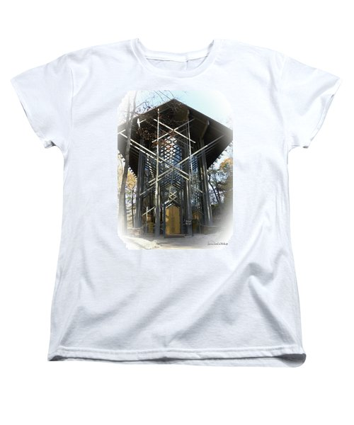 Chapel In The Woods Women's T-Shirt (Standard Cut) by Lena Wilhite