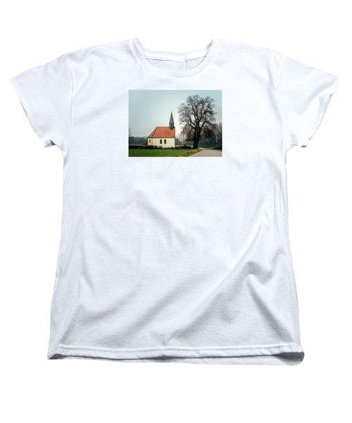 Chapel Under The Tree Women's T-Shirt (Standard Cut) by Daniel Precht