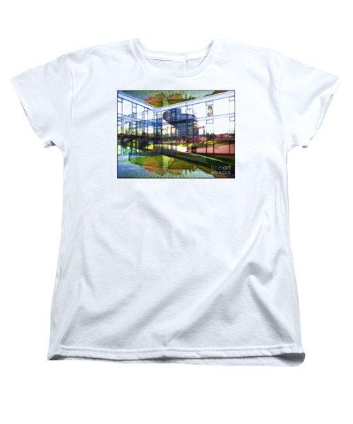 Women's T-Shirt (Standard Cut) featuring the painting Chaplin Ihn Strassburg by Mojo Mendiola