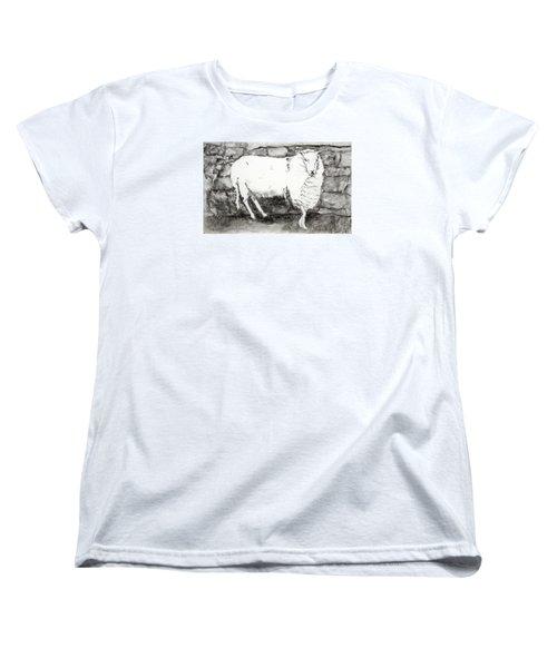 Charcoal Sheep Women's T-Shirt (Standard Cut)