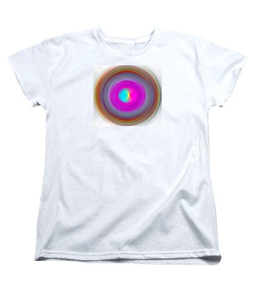 Women's T-Shirt (Standard Cut) featuring the digital art Charcoal Spiral by Prakash Ghai
