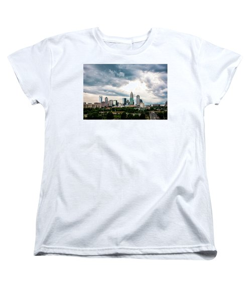 Women's T-Shirt (Standard Cut) featuring the photograph Charlotte In The Clouds by Phyllis Peterson