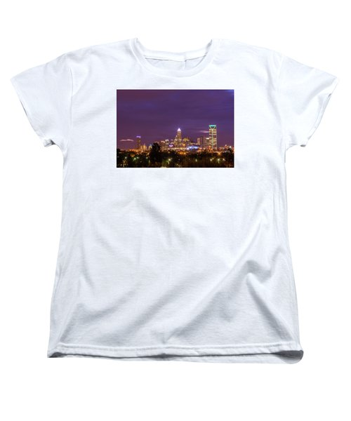 Charlotte, North Carolina Sunrise Women's T-Shirt (Standard Cut) by Serge Skiba