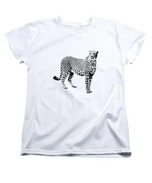 Cheetah Cutout Women's T-Shirt (Standard Cut) by Greg Noblin