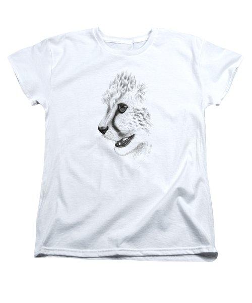 Cheetah Women's T-Shirt (Standard Cut) by John Barnard