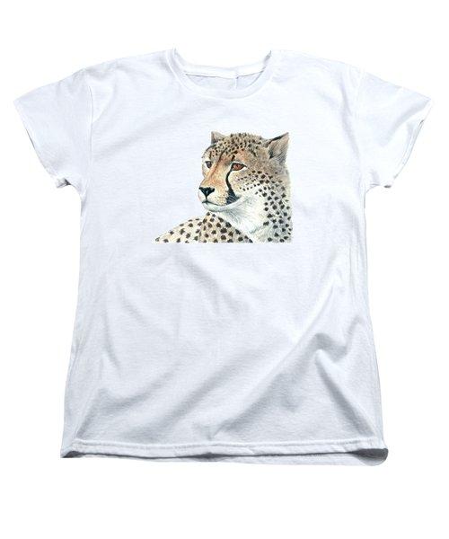 Cheetah Women's T-Shirt (Standard Cut) by Katerina Kirilova