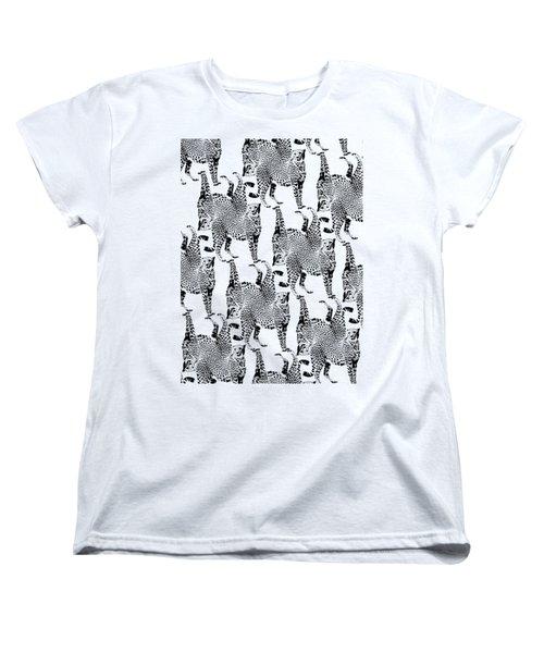 Cheetah Pattern Women's T-Shirt (Standard Cut) by Greg Noblin