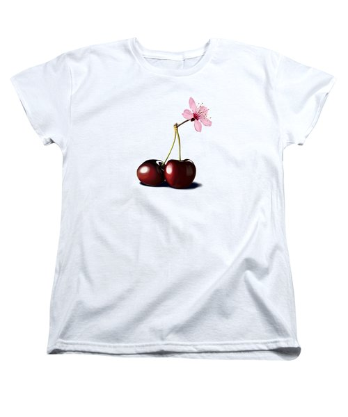 Women's T-Shirt (Standard Cut) featuring the drawing Cherry Blossom by Rob Snow