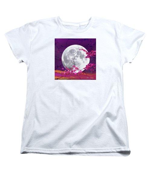 Cherry Moon  Women's T-Shirt (Standard Cut) by Robin Moline