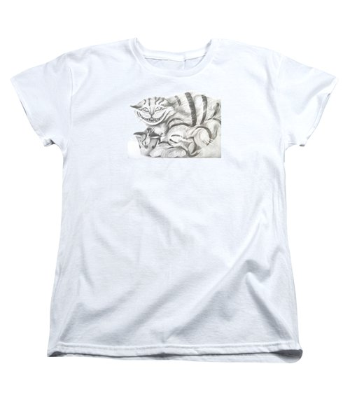 Women's T-Shirt (Standard Cut) featuring the drawing Chershire Cat  by Meagan  Visser