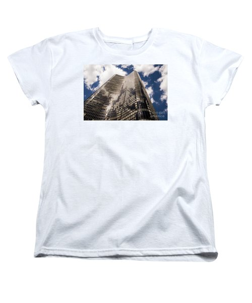 Women's T-Shirt (Standard Cut) featuring the photograph Chicago Building by Zawhaus Photography