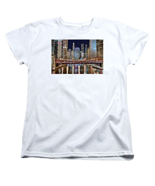 Chicago Full City View Women's T-Shirt (Standard Cut) by Frozen in Time Fine Art Photography