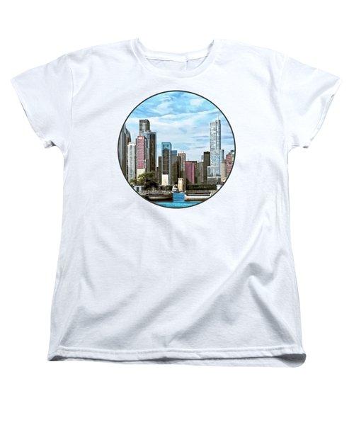 Chicago Il - Chicago Harbor Lock Women's T-Shirt (Standard Cut) by Susan Savad