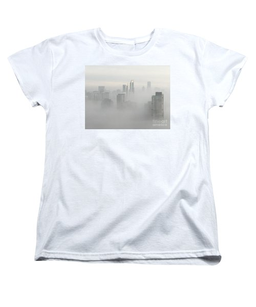 Women's T-Shirt (Standard Cut) featuring the photograph Chicago In The Clouds by Kate Purdy