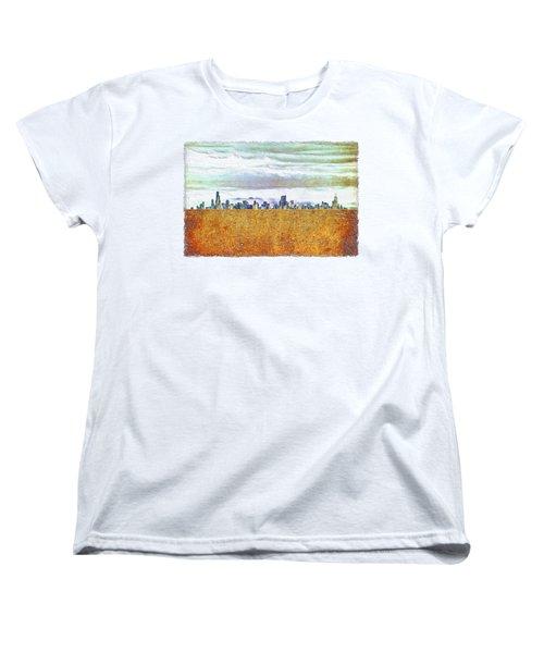 Chicago Skyline Women's T-Shirt (Standard Cut) by Di Designs