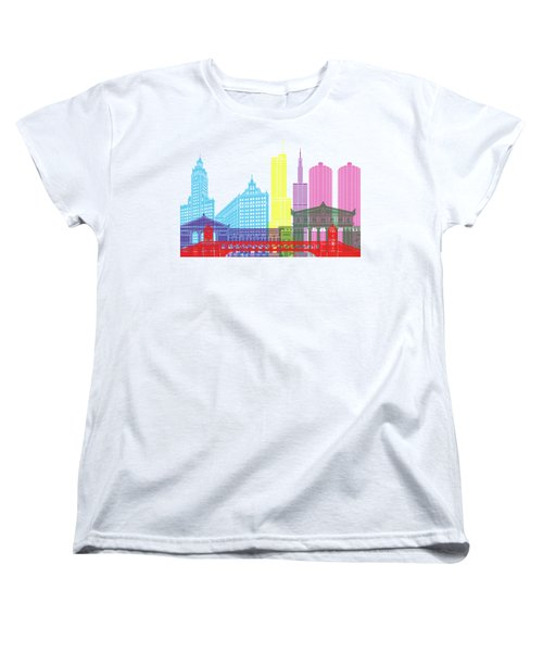 Chicago Skyline Pop Women's T-Shirt (Standard Cut) by Pablo Romero