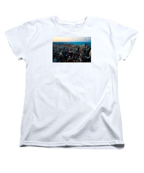 Chicago Skyline Women's T-Shirt (Standard Cut) by Richard Zentner