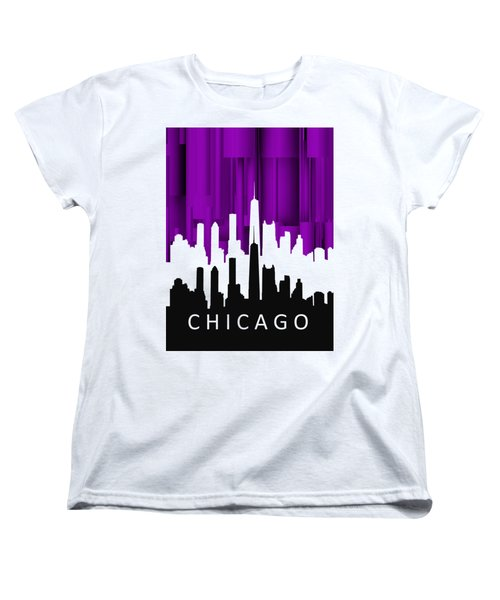 Chicago Violet In Negative Women's T-Shirt (Standard Cut) by Alberto RuiZ