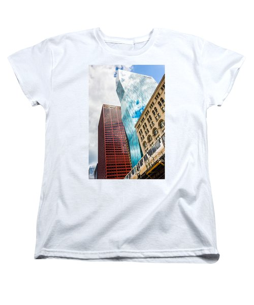 Chicago's South Wabash Avenue  Women's T-Shirt (Standard Cut) by Semmick Photo