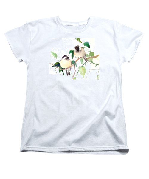 Chickadees Women's T-Shirt (Standard Cut) by Suren Nersisyan