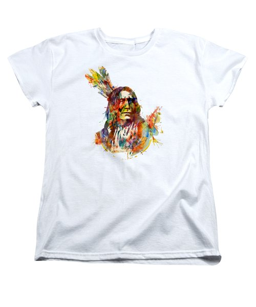 Chief Mojo Watercolor Women's T-Shirt (Standard Fit)