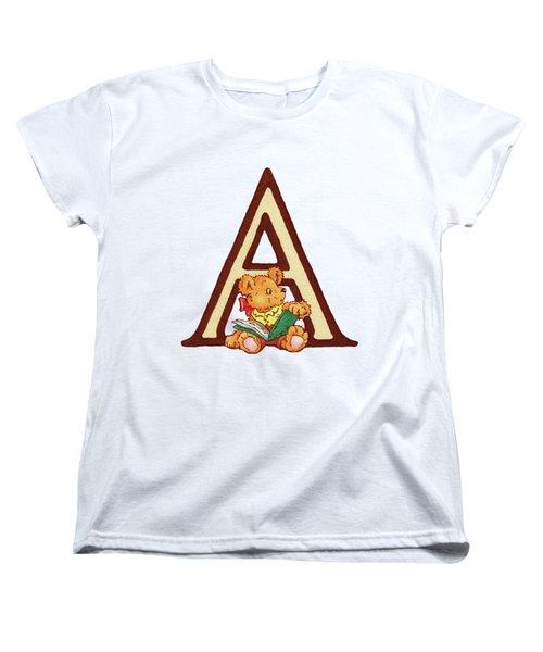 Children's Letter A Women's T-Shirt (Standard Cut) by Andrea Richardson