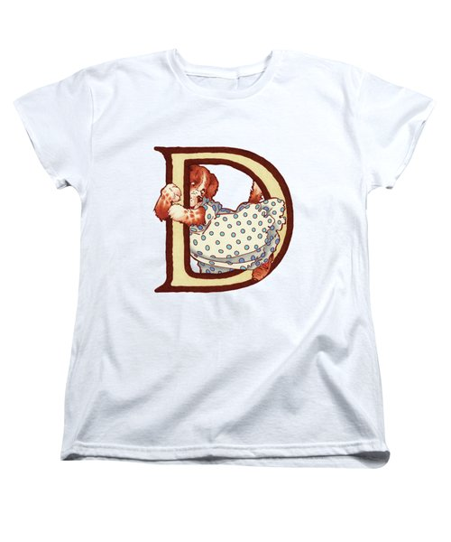 Children's Letter D Women's T-Shirt (Standard Cut) by Andrea Richardson