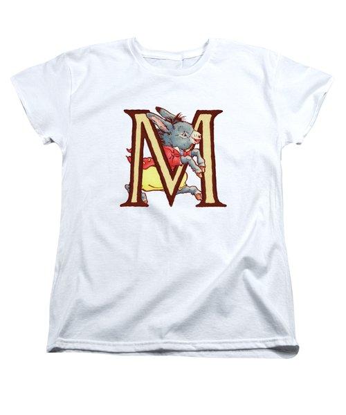 Children's Letter M Women's T-Shirt (Standard Cut) by Andrea Richardson