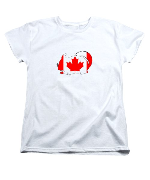 Chinchilla Canada Women's T-Shirt (Standard Cut) by Mordax Furittus
