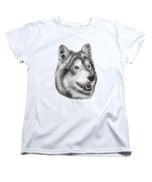 Women's T-Shirt (Standard Cut) featuring the drawing Chinook by Peter Piatt