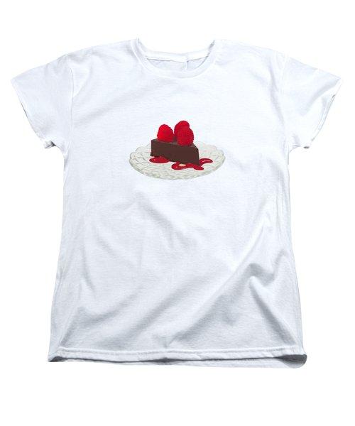 Chocolate Cake Women's T-Shirt (Standard Cut) by Priscilla Wolfe