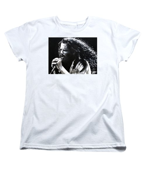 Chris Cornell Women's T-Shirt (Standard Cut) by Tom Carlton