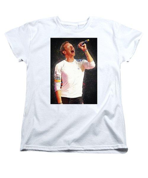 Chris Martin - Coldplay Women's T-Shirt (Standard Cut) by Semih Yurdabak