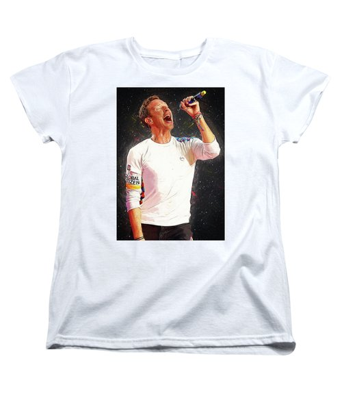 Chris Martin - Coldplay Women's T-Shirt (Standard Cut)