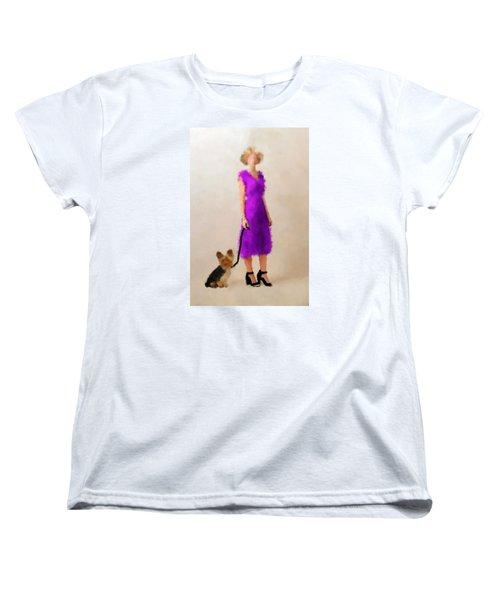 Women's T-Shirt (Standard Cut) featuring the digital art Christina by Nancy Levan