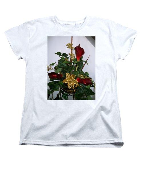 Christmas Arrangemant Women's T-Shirt (Standard Cut) by Sharon Duguay