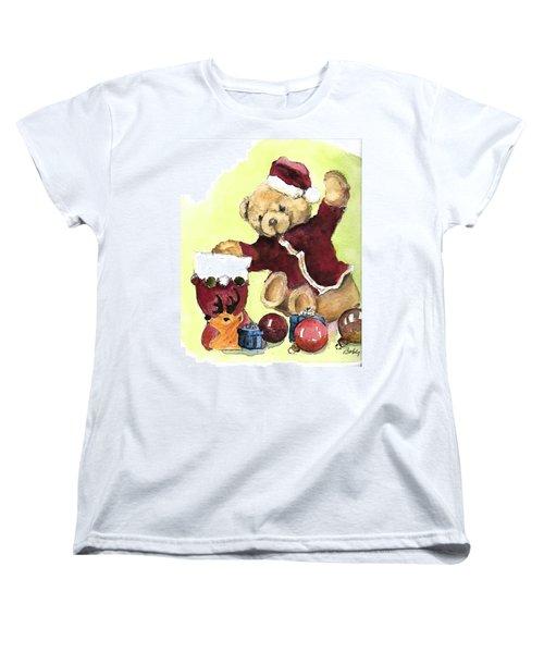 Christmas Bear Women's T-Shirt (Standard Cut)