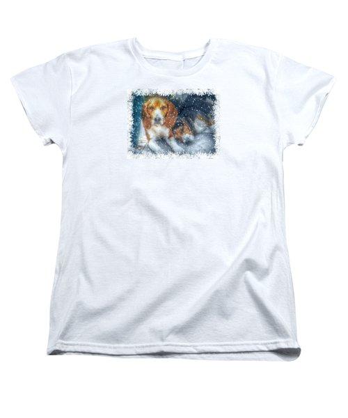Christmas Brothers Women's T-Shirt (Standard Cut) by Amanda Eberly-Kudamik