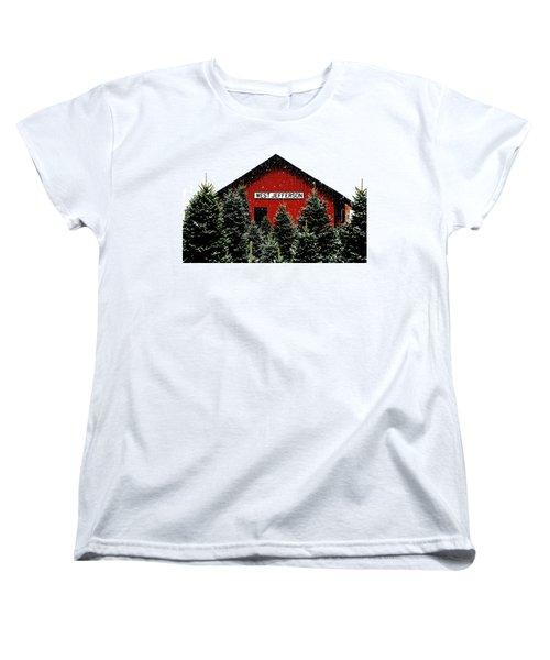 Christmas Town Women's T-Shirt (Standard Cut) by Dale R Carlson