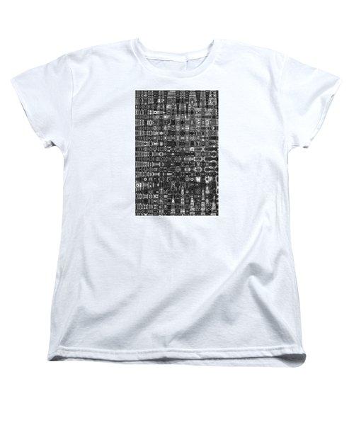 Women's T-Shirt (Standard Cut) featuring the photograph Chromosome 22 Bw by Diane E Berry