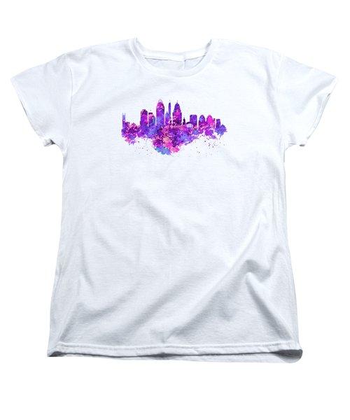Cincinnati Skyline Women's T-Shirt (Standard Cut) by Marian Voicu