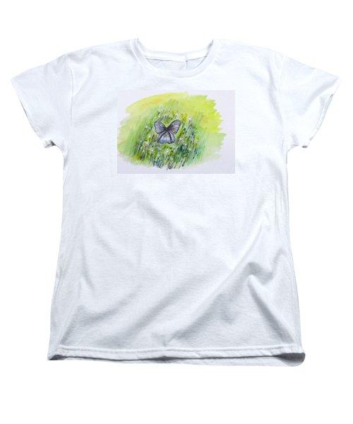 Cindy's Butterfly Women's T-Shirt (Standard Cut) by Clyde J Kell