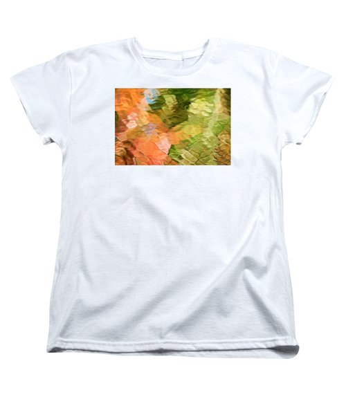 Cinnamon And Spice Mosaic Abstract Women's T-Shirt (Standard Fit)