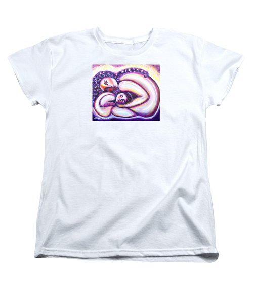 Women's T-Shirt (Standard Cut) featuring the painting Circle Of Love by Anya Heller